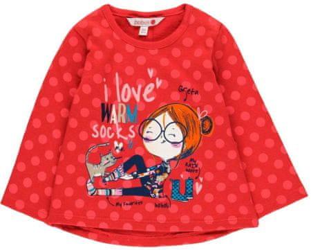 Boboli dívčí tričko 68 červená