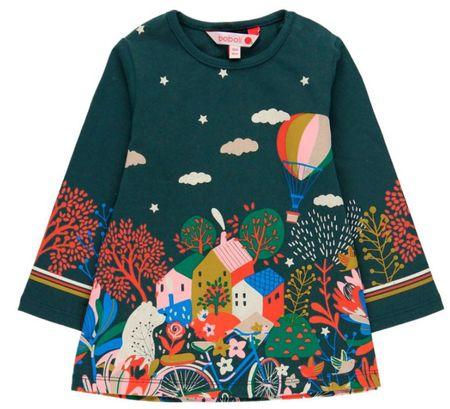 Boboli dievčenské šaty 104 zelená