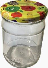 Marex Trade Zavařovací sklenice TWIST s víčkem a etiketou, 6 x 500 ml
