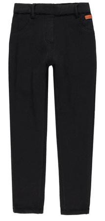 Boboli dievčenské džínsy s fleecom 110 čierna