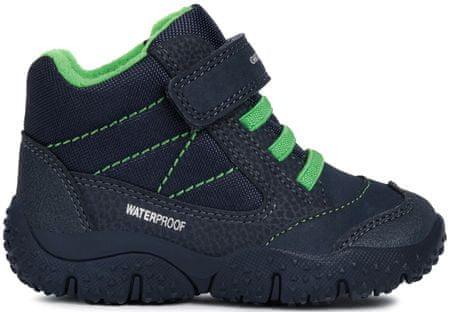 Geox chlapecké kotníkové boty Baltic 20 modrá/zelená