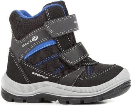 Geox Trivor fantovski zimski škornji, 20, črni/modri