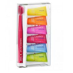 Curaprox Sada péče o zuby Zubní kartáček 5460 Ultra Soft + mini bělicí pasty 6 x 10 ml