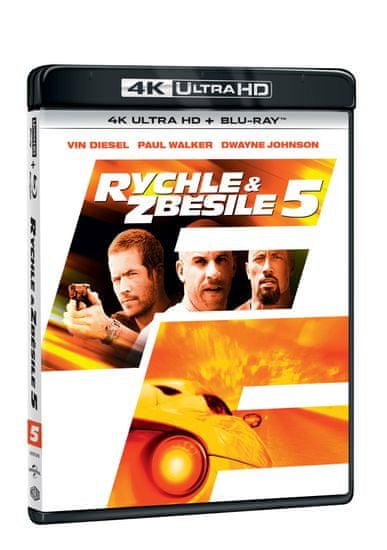 Rychle a zběsile 5 (2 disky) - Blu-ray + 4K Ultra HD