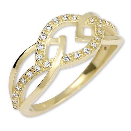 Brilio Ženski prstan iz rumenega zlata s kristali 229 001 00805 (Vezje 52 mm) rumeno zlato 585/1000