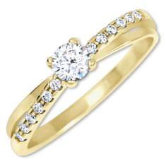Brilio Očarljiv prstan s kristali zlata 229 001 00810 rumeno zlato 585/1000