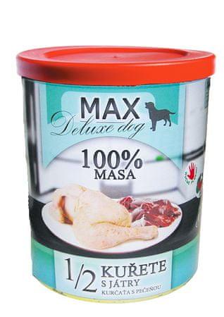 FALCO karma dla psów MAX deluxe 1/2 kurczak z wątróbką, 800 g