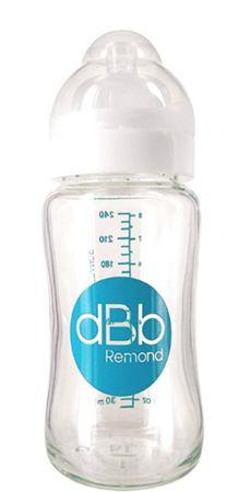 DBB Remond Babaüveg üveg 240 ml széles nyak résszel, fehér