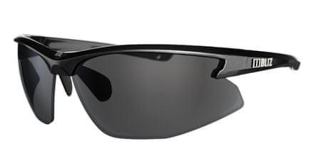 Bliz Motion - Shiny Black - Smoke w Silver Mirror športna sončna očala 9060-10, črna