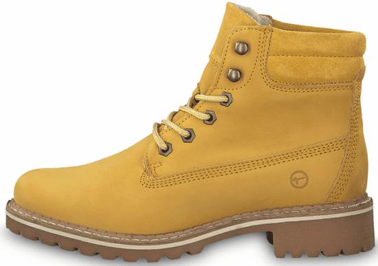 Tamaris dámská kotníčková obuv 25242 36 žlutá