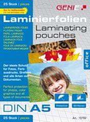 Genie  Laminovacie fólie A5 80 mic. 25 ks