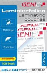Genie  Laminovací fólie 95x60 100 mic. 100 ks