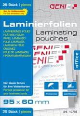 Genie  Laminovací fólie 95x60 mm 100 mic. 25 ks