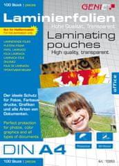 Genie  Laminovacie fólie A4 80 mic. 100 ks