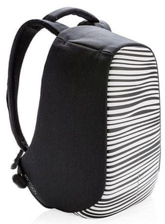 """XD Design Městský bezpečnostní batoh Bobby Compact Print 14"""", zebrovaný P705.651"""