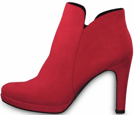 Tamaris dámska členková obuv 25316 39 červená