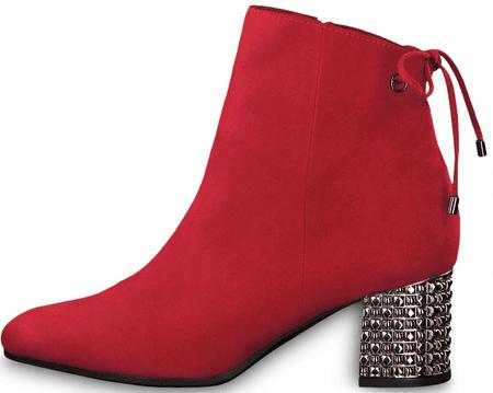 Tamaris ženski gležnarji, 25318, 38, rdeči