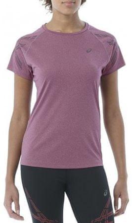Asics ženska majica Stripe Ss Top W, vijolična, S