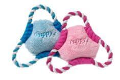 Karlie Pískacia plyšová hračka frisbee, 17 cm