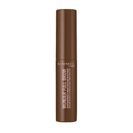Rimmel Vízálló szemöldökspirálWonder´Full 24H (Brow Mascara) 4,5 ml (árnyalat 03 Dark)