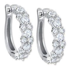 Brilio Silver Luxusné strieborné náušnice 436 001 00501 04 striebro 925/1000