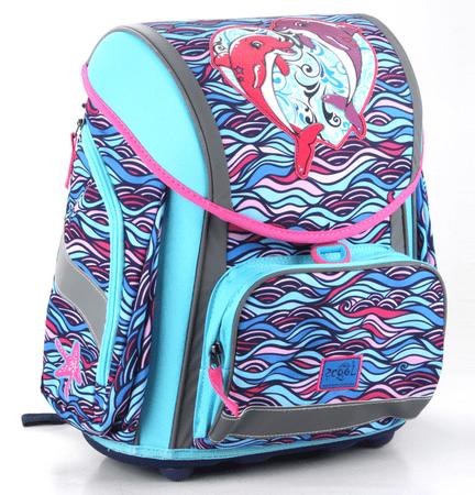 Akta S Cool šolski ergonomski trdi nahrbtnik delfin