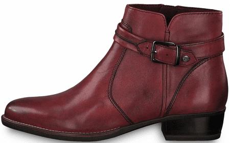 Tamaris dámská kotníčková obuv 25364 36 vínová