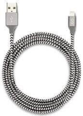 EPICO opletený Lightning kabel 1,8m - černá/bílá (MFi) 9915141300001