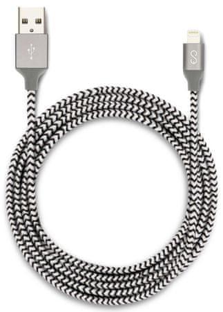 EPICO przewód Lightning 1,8m - czarny/biały (MFi) 9915141300001