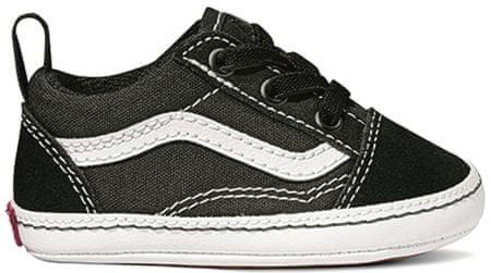Vans fantovske teniske IN Old Skool Crib Black/True White, 17, črne