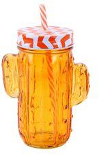 TORO Poháre s viečkom a slamkou Kaktus 400 ml 4 ks