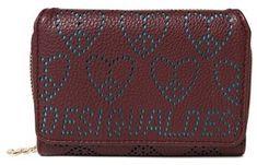 Desigual dámska vínová peňaženka Mone True Love Maria Mini