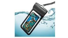 """Celly Univerzální voděodolné pouzdro CELLY Splash Bag 2019 pro telefony 6,5"""", černé SPLASHBAG19BK"""
