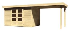 KARIBU dřevěný domek KARIBU ASKOLA 4 + přístavek 280 cm (77733) natur