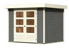 KARIBU dřevěný domek KARIBU ASKOLA 3 (82902) tm. šedý