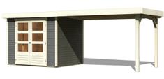 KARIBU dřevěný domek KARIBU ASKOLA 4 + přístavek 280 cm (92073) tm. šedý