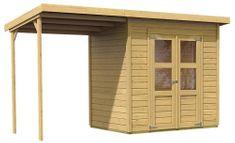 KARIBU dřevěný domek KARIBU MERSEBURG 3 + přístavek 166 cm (68763) natur