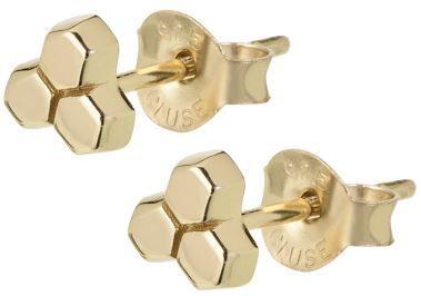 Cluse Pozłacany sześciokąt Kolczyki CLJ51017 srebro 925/1000