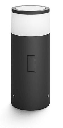 Philips Hue Calla 17423/30/P7 zunanja svetilka LED 8W 640lm 2200-6500K IP44, črna+ adapter