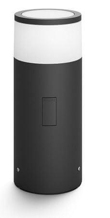Philips zewnętrzna lampa cokołowa Hue Calla 17420/30/P7 LED 8W 640lm 2200-6500K IP44, czarna