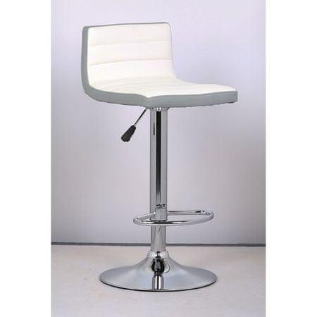 Barski stolac Lilija, bijeli/sivi