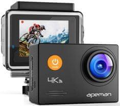 Apeman Odolná digitálna kamera A79, 4K Ultra HD, vodotesné puzdro do 40 m