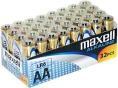 Maxell baterija AA (LR6), 32 kos, alkalne, pakiranje v folijo