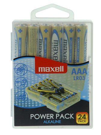 Maxell baterija AAA (LR03), alkalne, 24 kosov