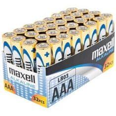Maxell baterija AAA (LR03), 32 kos, alkalne, pakiranje v folijo