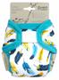 1 - Petit Lulu novorodenecké vrchné nohavičky Tyrkysové pierka