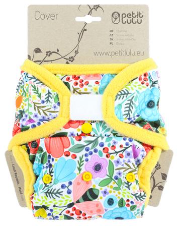 Petit Lulu vrchné nohavičky suchý zips Rozkvitnutá záhrada