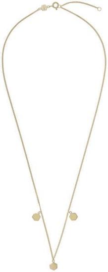 Cluse Pozlacený náhrdelník s hexagony CLJ21012