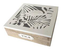 DUE ESSE Dřevěný box na čaj TROPIC, 9 přihrádek