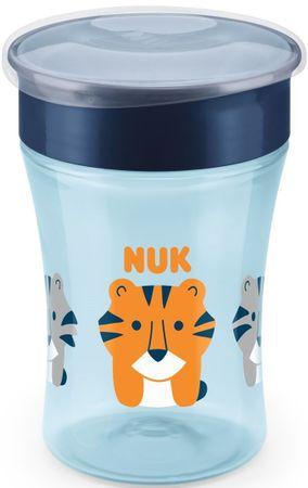 Nuk Magic Cup bočica s poklopcem, 230ml, plava